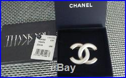 NWT Authentic CHANEL'17P CC Logo Pearl Brooch Pin withBox, Bag, Original tag