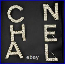 RUNWAY CHANEL Letter Logo Crystal Pin Brooch Set of 6