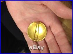 Rare! Antique 18k Enamel Micro Mosaic /micromosaic Scarab Pin / Brooch/ Pendant