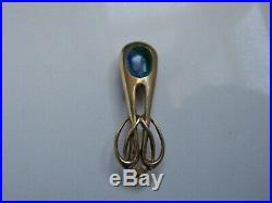 Rare Art Nouveau Liberty & Co Cymric Gold & Enamel Brooch Pin In Liberty Box