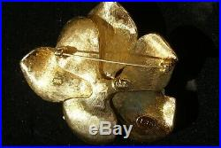 Rare Joan Rivers MAGNOLIA FLOWER Gold Limited Edition Pave Brooch Pin