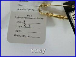 Rare Vtg Gianni Versace Large Gold Medusa Safety Pin Brooch