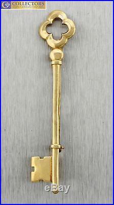 Retired Vintage Estate Tiffany & Co. 14K Yellow Gold Crown Key Pin Brooch 4.4gr