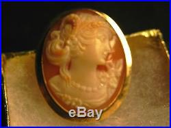 Stunning Antique Estate 18k Gold Cameo Pin/brooch Pendant Buy It Now Or Offer