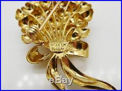 TIFFANY & CO. Solid 18k Yellow Gold With Rubies Brooch Pin (SEE SPECS) #10403