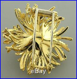 TIFFANY & Co. 18K GOLD ANEMONE BROOCH PIN OR PENDANT HEAVY WITH POUCH