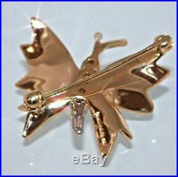 Tiffany & Co. 18k Gold Platinum Diamond Butterfly Brooch Pin, VINTAGE 01LA
