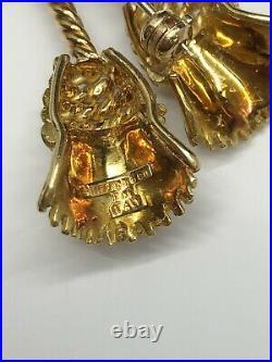 Tiffany & Co. 18k Yellow Gold Tassle Brooch/Pin Item #1000