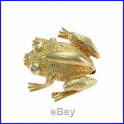Tiffany & Co. Diamond Save The Frog Brooch Pin 18k Yellow Gold Vintage Estate