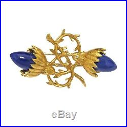 Tiffany & Co. Jean Schlumberger Gold Lapis Brooch Pin