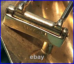 Tiffany & Co. Vintage 14K Yellow Gold Retro CheckeredSquare Brooch Pin 13.7Grams