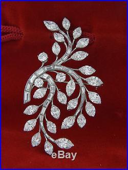 Van Cleef & Arpels Floral Diamond 20. Ctw 18k Gold in Platinum Brooch, Pin