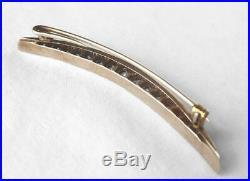 Victorian 14k Rose Gold 1.33 Ct Old Mine Diamond Crescent Moon Brooch Pin2