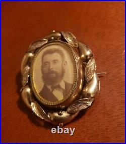 Victorian Vintage 9kt Gold Mourning Hair Pin Brooch 2 Pendant! Not Scrap 15.5gr