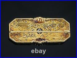 Vintage Estate Victorian 18k Yellow White Gold Old Miner Duke Diamond Pin Brooch