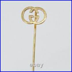 Vintage GUCCI 18K SOLID YELLOW GOLD Lapel/Hat Pin, Brooch