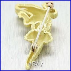 Vintage Kieselstein-Cord Solid 18K Yellow Gold Crocodile Brooch Pin A9