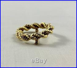 Vintage Tiffany & Co 14k Yellow Gold Rope Brooch / Pin