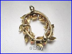 Vintage Victorian 14K Yellow Gold Opal & Seed Pearl Hallmarked Brooch Pin 9044
