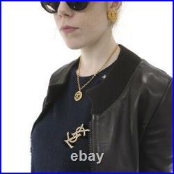 Vintage Yves Saint Laurent Never Used Rhinestone YSL Pin Brooch. NFV5445