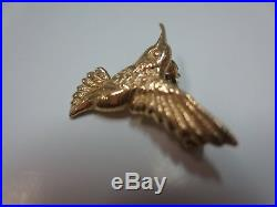 Vtg 14 K Solid Gold Hummingbird Brooch Pin 2 Gram