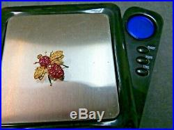 Vtg S J Lau 14K Solid Yellow Gold Ruby Bee Brooch Pin Pendant Flying Insect