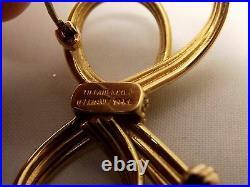 Vtg Tiffany & Co 14K Gold Ribbon Brooch Pin Bow Made in Germany Antique Heavy
